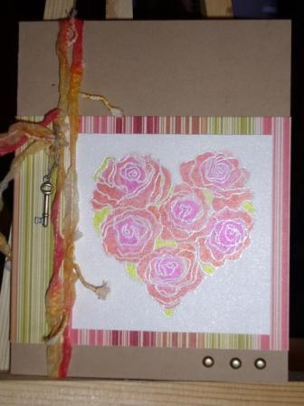 Watercolor Rose Heart