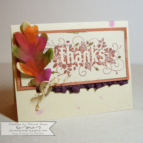 Can You Case Ti 47 Sketch Challenge, Seasonally Scattered thanks card by Marisa Gunn