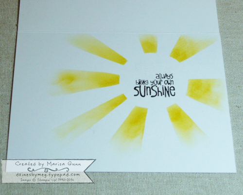 Ray of Sunshine and Calling All Heroes encouragement card by Marisa Gunn