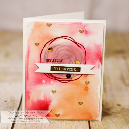 Can You Case It 57 Challenge, Snuggles and Smooches Valentine's Day card by Marisa Gunn