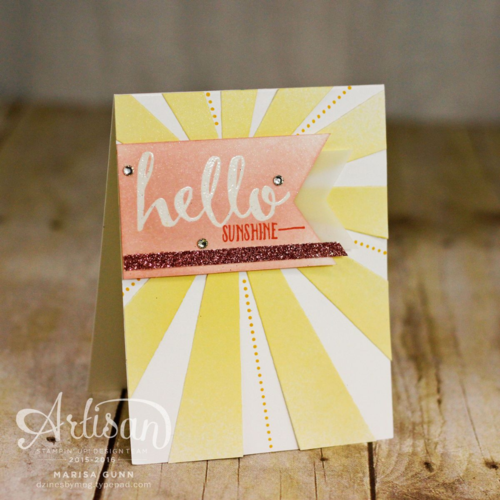 Cards made with the Sunburst Thinlits Die, Sunburst Sayings Stamp Set and Hello Stamp Set from Stampin' Up, by Marisa Gunn