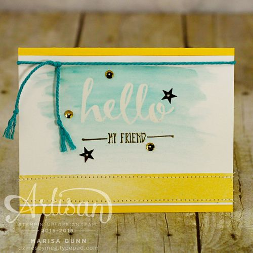 Friendship card for FMS221 featuring the Hello stamp set from Stampin' Up!, by Marisa Gunn