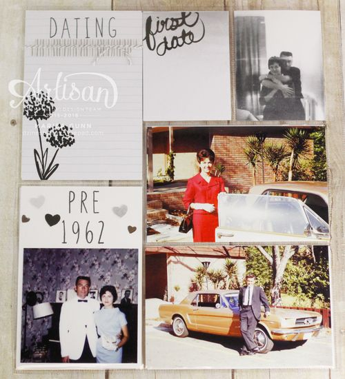 50th Wedding Anniversary Project Life Album Pg2 by Marisa Gunn using Love Story PLxSU