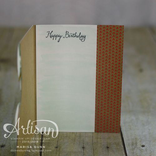 Watercolor birthday featuring the Balloon Celebration Stamp Set from Stampin' Up! by Marisa Gunn