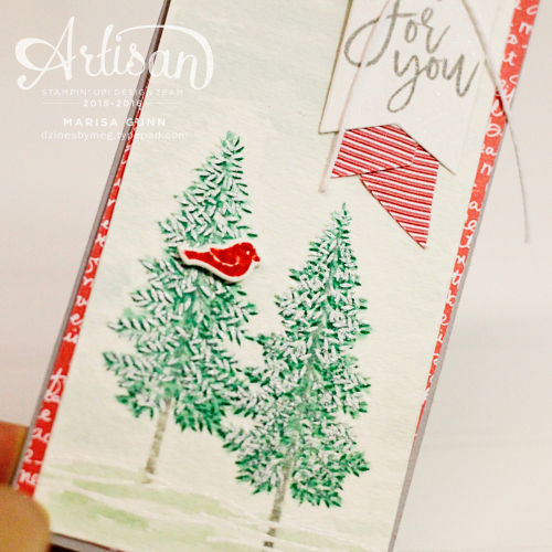 Fall and Winter scene cards using the Thoughtful Branches Bundle from Stampin' Up! by Marisa Gunn.