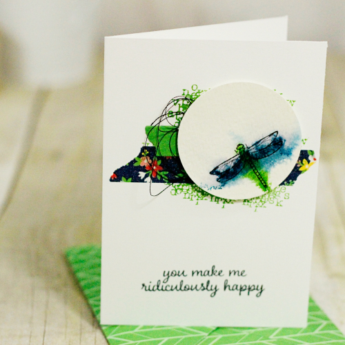 Watercolor Stamping with the Touches of Texture Stamp Set from Stampin' Up! by Marisa Gunn