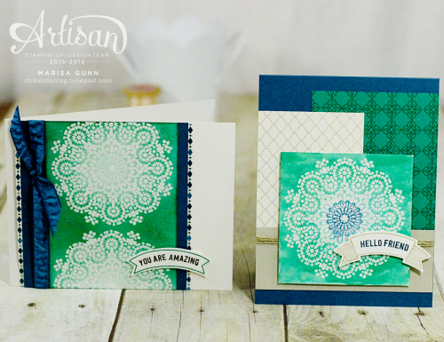 Friendship cards featuring the Moroccan Nights stamp set from Stampin' Up! by Marisa Gunn