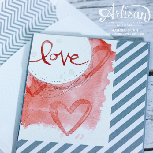 TGIFC94 love card featuring the Watercolor Words Stamp Set from Stampin' Up by Marisa Gunn