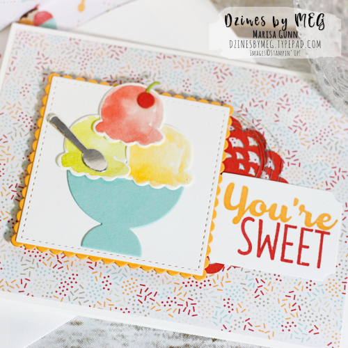 Birthday Card featuring the Cool Treats Stamp Set from Stampin' Up by Marisa Gunn for #TGIFC98.