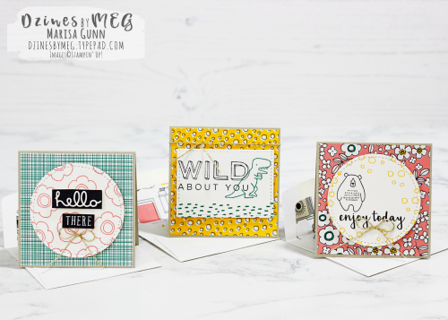 Notes cards and back to school gift bag featuring Pieces and Patterns Stamp Set from Stampin' Up by Marisa Gunn