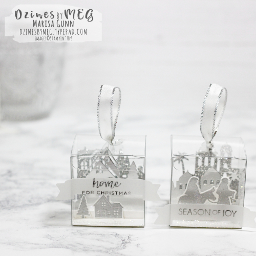 3D Ornaments featuring Clear Tiny Treat Boxes from Stampin' Up by Marisa Gunn