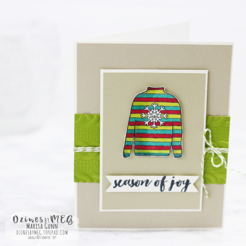 Christmas cards featuring Christmas Sweaters stamp set from Stampin' Up by Marisa Gunn