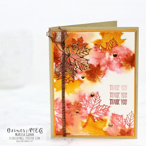Thank you card featuring the Colorful Seasons Photopolymer Bundle from Stampin' Up by Marisa Gunn