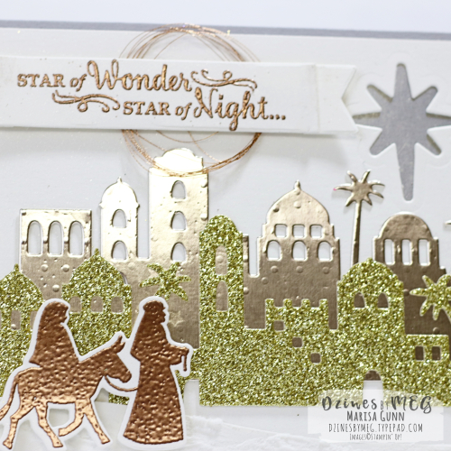 Christmas cards featuring mixed metallics supplies from Stampin' Up by Marisa Gunn for Fancy Friday Dec2017.