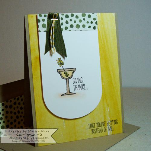 Making Spritis Bright Thanksgiving card, by Marisa Gunn, https://dzinesbymeg.typepad.com