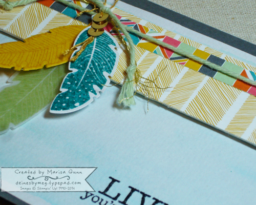 Four Feathers encouragement card by Marisa Gunn