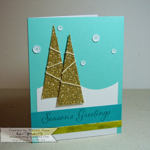 Watercolor Winter Kit, Group 1 with 5 cards featuring trees, by Marisa Gunn