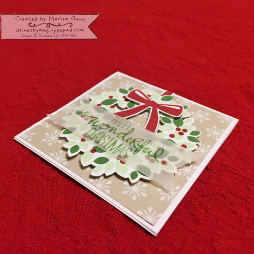 Wonderous Wreath, Christmas Mini Card by Marisa Gunn