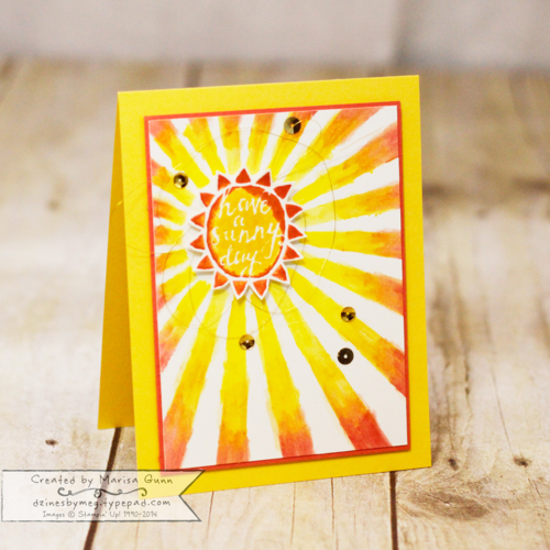 CYCI 74 - Summer Fun Challenge, Silhouettes & Script friendship card by Marisa Gunn