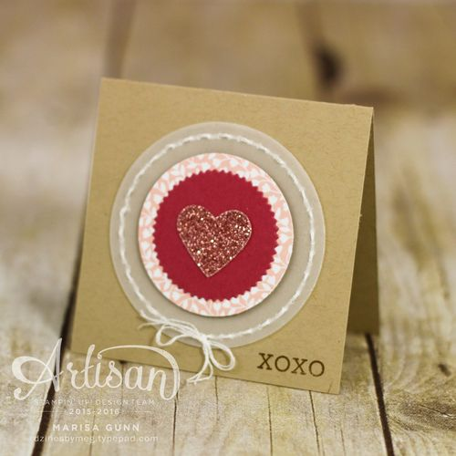 Bloomin' Love Stamp Set and Love Blossoms DSP Valentine's cards for Global Design Project Challenge #GDP019, by Marisa Gunn