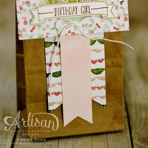 Easter card and birthday gift bag featuring the Easter Lamb stamp from Stampin' Up!, by Marisa Gunn for the Artisan Design Team Blog Hop