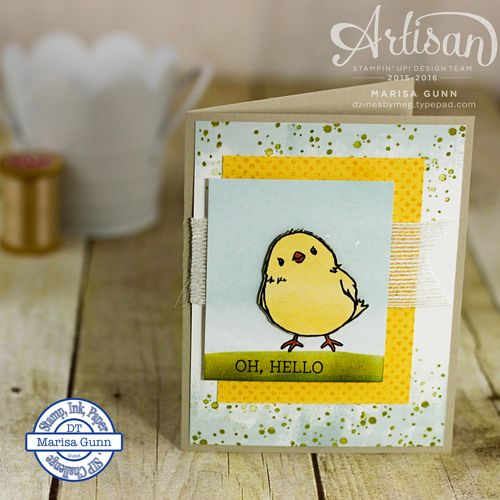 Friendship Card using the Honeycomb Happiness stamp set from Stampin' Up! by Marisa Gunn