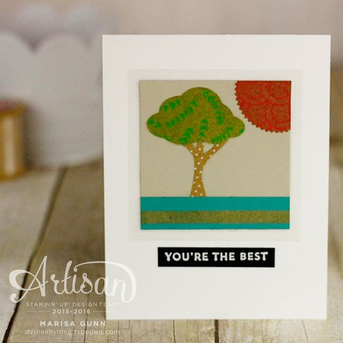 Simple friendship cards featuring the Shine On Specialty  paper from Stampin' Up by Marisa Gunn