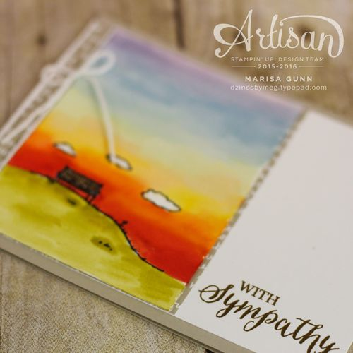 Sympathy card featuring the Happy Home Stamp Set from Stampin' Up! by Marisa Gunn