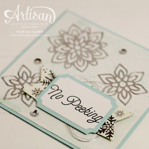 Holiday Cards featuring the Flourish Thinlits Dies and foil paper from Stampin' Up! by Marisa Gunn