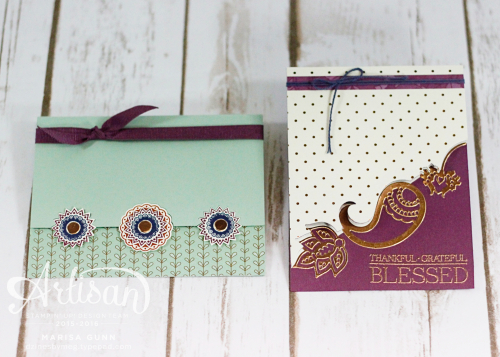Friendship cards featuring the Paisleys and Posies Stamp Set from Stampin' Up by Marisa Gunn