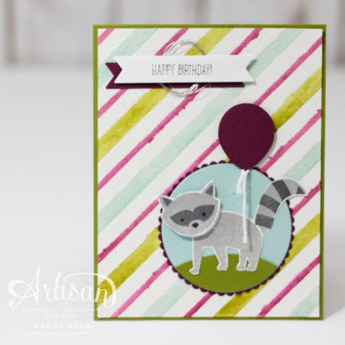 Fancy Friday Technique Challenge cards featuring the Seasonsal Decorative Masks from Stampin'Up by Marisa Gunn