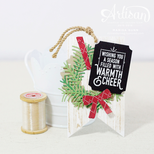 Christmas Tags for Fancy Friday using the Warmth and Cheer Stamp Set from Stampin' Up! by Marisa Gunn