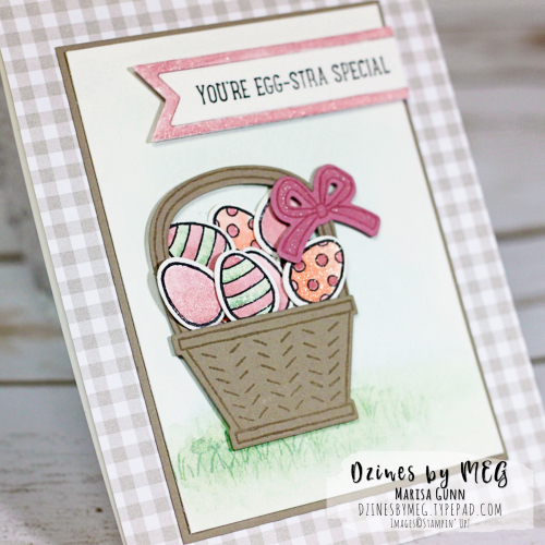 Spring friendship card featuring the Basket Bunch bundle from Stampin' Up by Marisa Gunn for TGIFC102