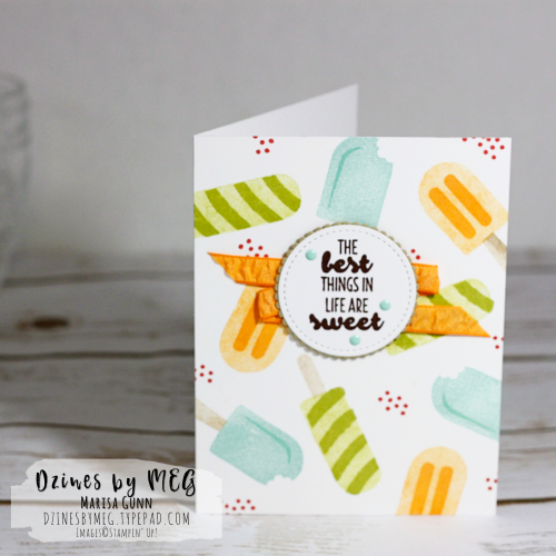 Free Tutorial: Cards and gift tag featuring the Cool Treats bundle from Stampin' Up by Marisa Gunn