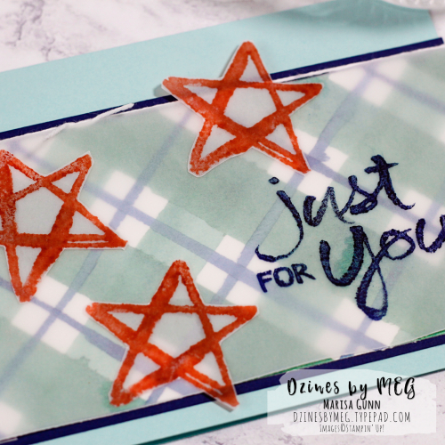 Masculine card featuring Watercolor Words Stamp Set from Stampin Up by Marisa Gunn