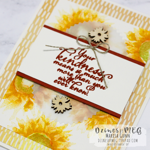 Friendship card featuring the Painted Harvest stamp set from Stampin' Up by Marisa Gunn for TGIFC124