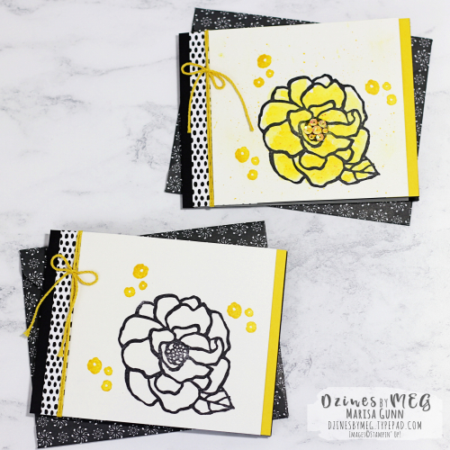 Mailable birthday cards with matching envelopes featuring the Beautiful Day Stamp Set from Stampin' Up by Marisa Gunn for Fancy Friday.