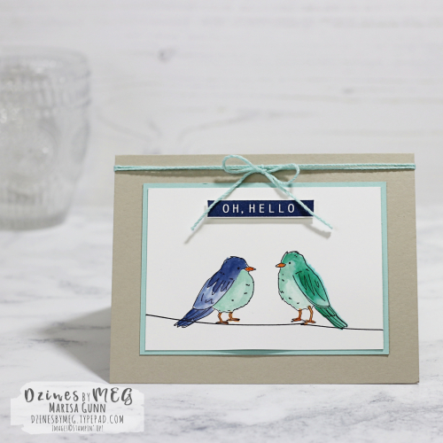Friendship card featuring the Color Me Happy stamp set from Stampin' Up by Marisa Gunn for Fancy Friday