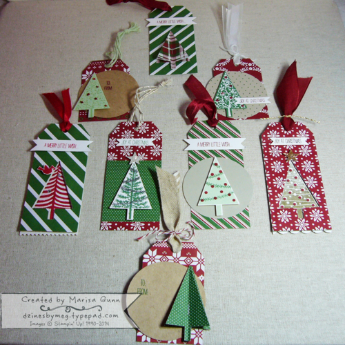 Festival of Trees Christmas tags by Marisa Gunn
