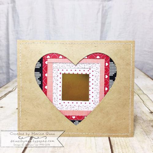 Valentine's Iris Fold Heart decoration by Marisa Gunn