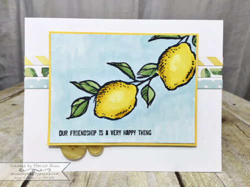 A Happy Thing and Blendabilities friendship card by Marisa Gunn