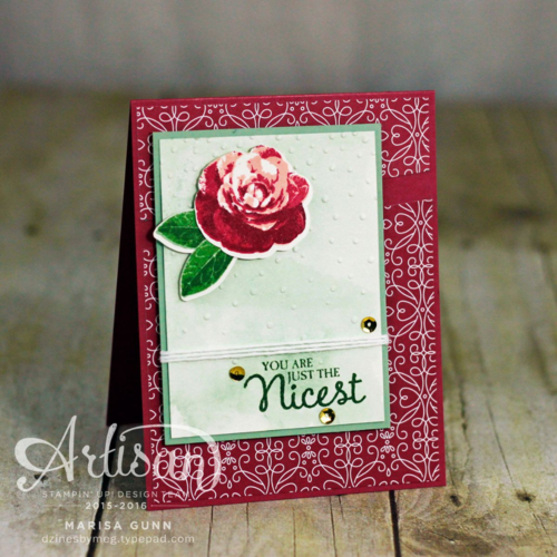 Card trio featuring Picture Perfect stamp set and Love Blossoms Designer Series paper stack from Stampin' Up! by Marisa Gunn