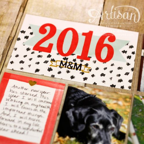 A trio of cards and a Project Life page using the Memories in the Making bundle from Stampin' Up!, by Marisa Gunn (PLxSU)