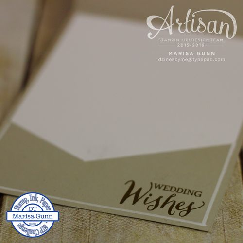Wedding wishes card using the Rose Wonder stamps and dies from Stampin' Up! by Marisa Gunn.