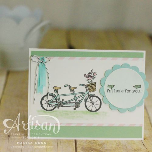 TGIFC48 encouragement card using Pedal Pushers stamp set from Stampin' Up! by Marisa Gunn.