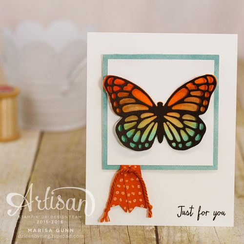 Friendship cards for #GDP029 using Watercolor Wings stamp set and Butterflies Thinlits and Bold Butterfly Framelits from Stampin' Up by Marisa Gunn