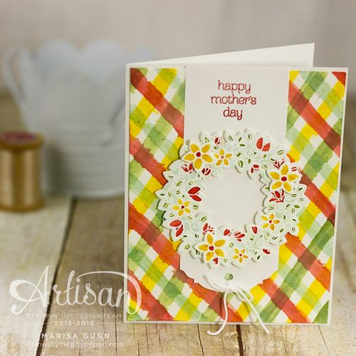 Mother's Day card for #FMS230 using the Circle of Spring stamp set from Stampin' Up by Marisa Gunn