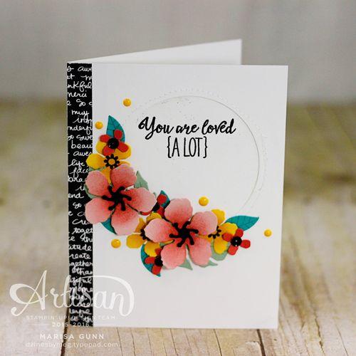 Card set using the Botanical Blooms stamp set and Botanical Builder dies from Stampin' Up! by Marisa Gunn