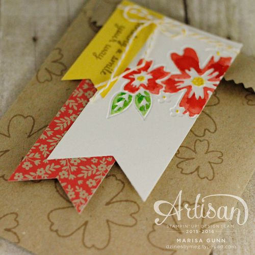 Embossed and watercolored cards and gift bag using Love & Affection stamp set and the Floral Affection embossing folders from Stampin' up by Marisa Gunn