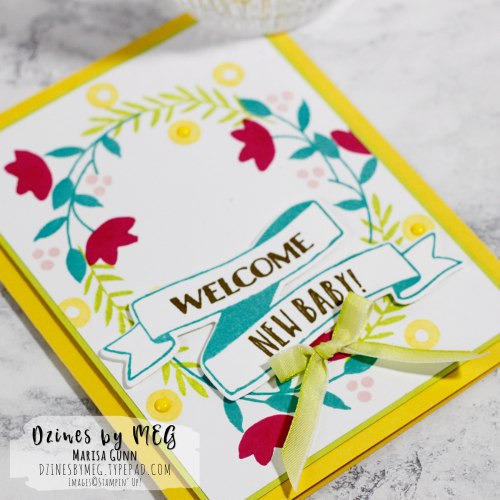 Baby Card featuring the Banners for You Stamp Set from Stampin' Up by Marisa Gunn